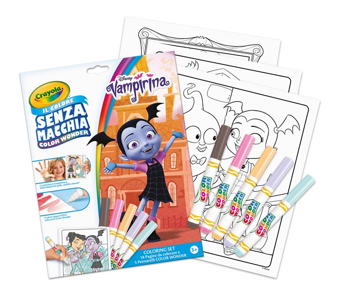 Coloring Set Color Wonder Disney Vampirina Crayola It