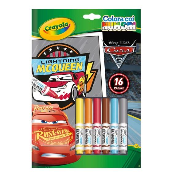 Album Colora Con I Numeri Cars 3 Crayola It