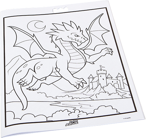 Color alive coloring pages minions for Crayola color alive action coloring pages mythical creatures